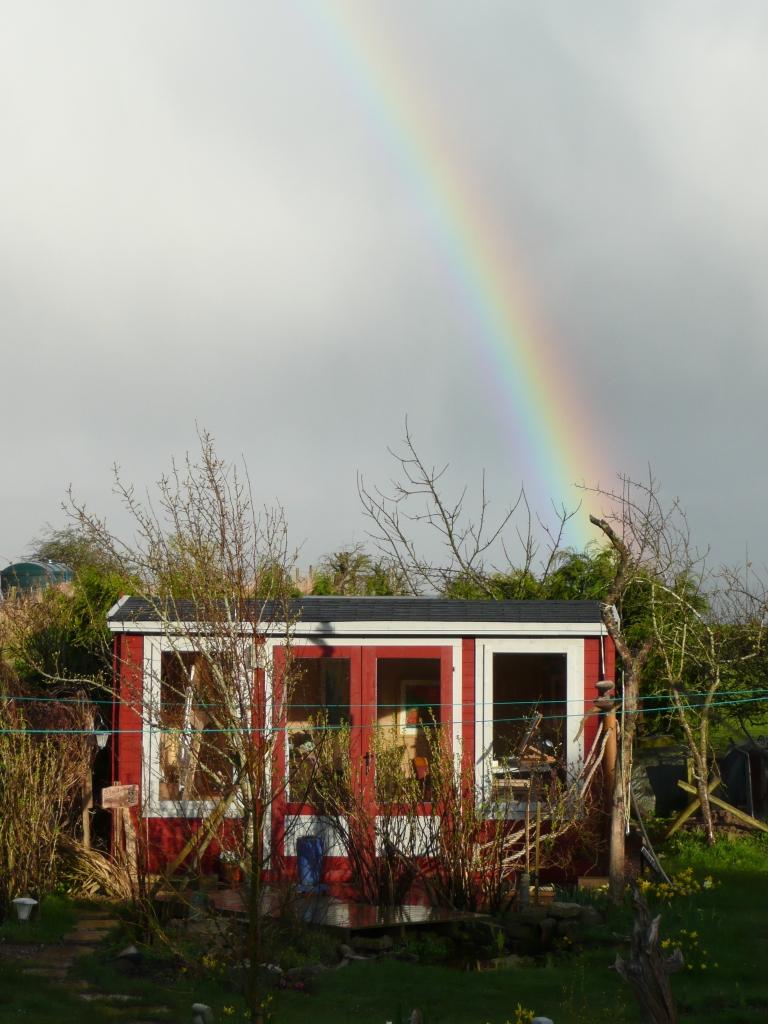 Rainbow over Studio Hundy