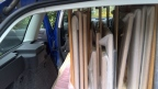 Securely fitted into the car - phew!
