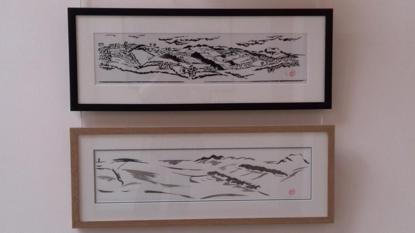 Exhibition up - Borders II and III