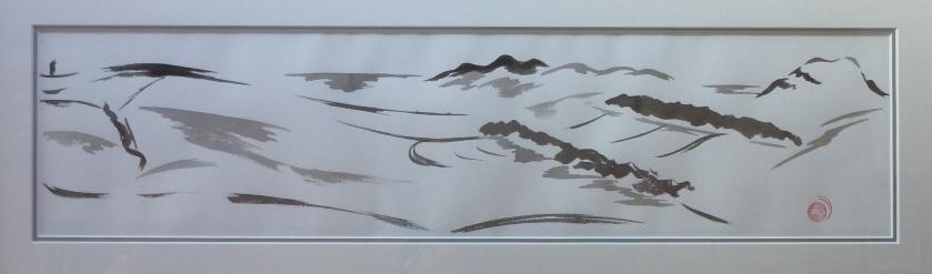 BORDERS III - chinese ink