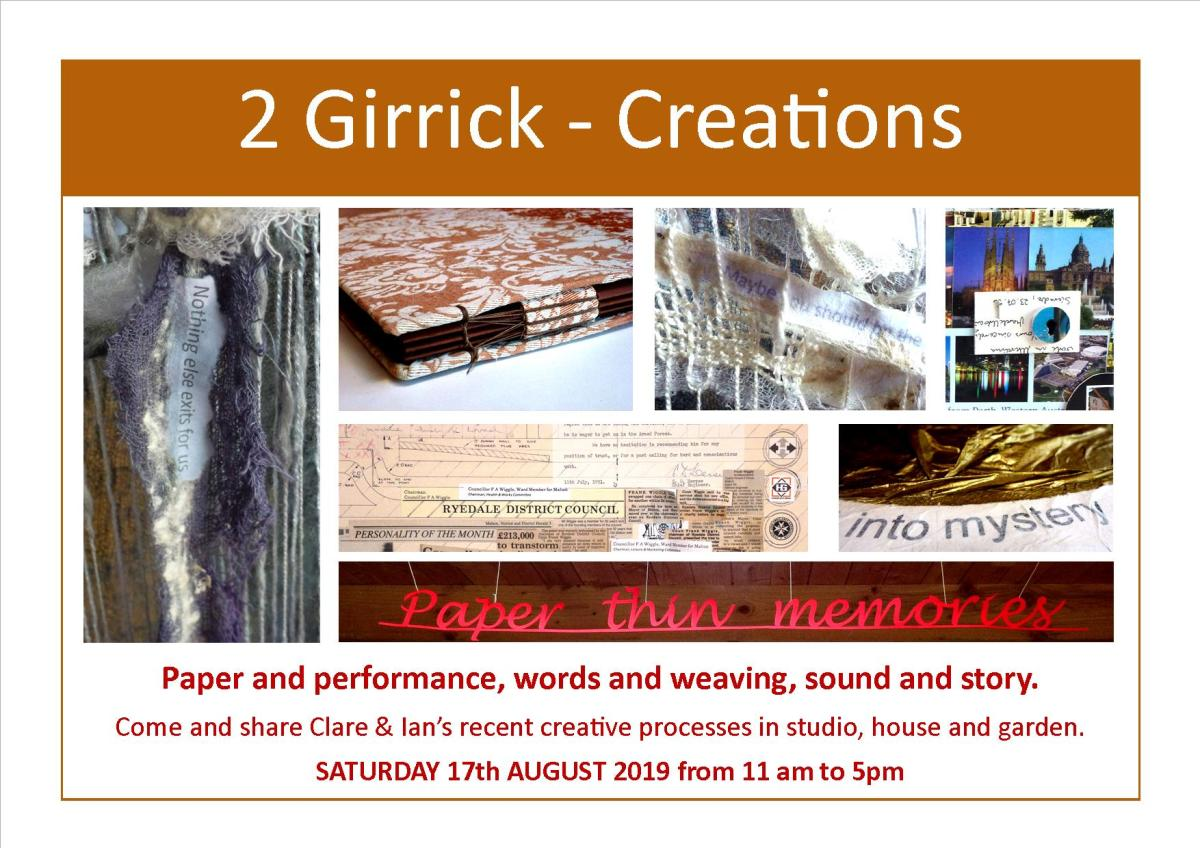 Paper & performance, words & weaving, sound &story